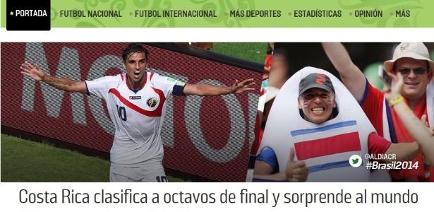 Jornais da Costa Rica fazem festa pelo feito histórico da seleção na Copa