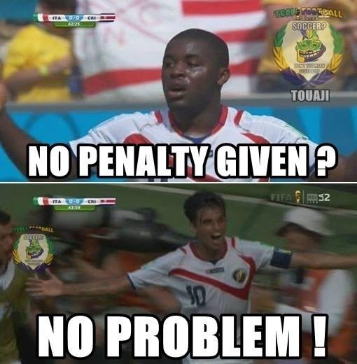 Não marcaram pênalti para a Costa Rica? Não tem problema!