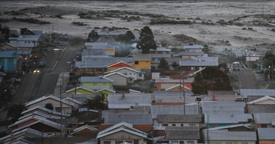 A região da serra catarinense tem sido contemplada pela neve, com São Joaquim e Urupema entre os pontos mais conhecidos