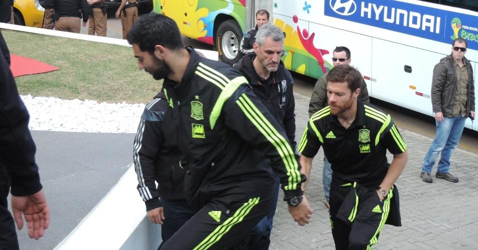 21.06.2014 - Seleção espanhola almoça em churrascaria em Curitiba