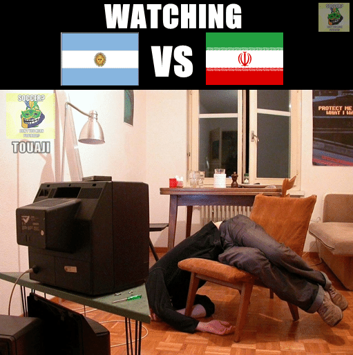 Assistindo a Argentina x Irã. Bom jogo, não?