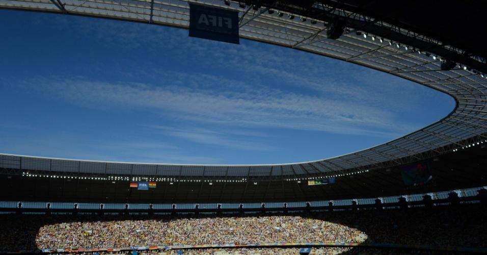 21.jun.2014 - Castelão lotado é palco da partida entre Alemanha e Gana, pela segunda rodada da primeira fase da Copa do Mundo