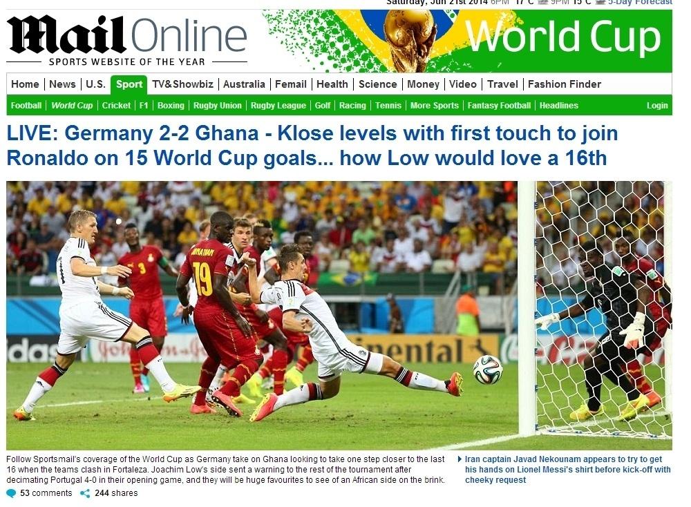 """Daily Mail brinca com técnico da Alemanha: """"Low adoraria o 16º"""""""