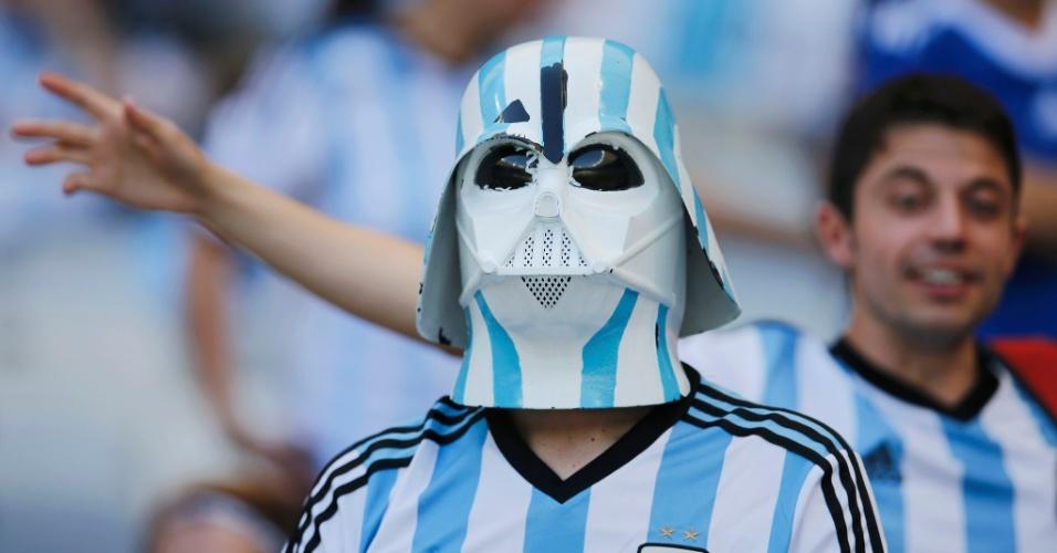 Darth Vader deixou o lado negro da força e foi torcer para a Argentina no Mineirão