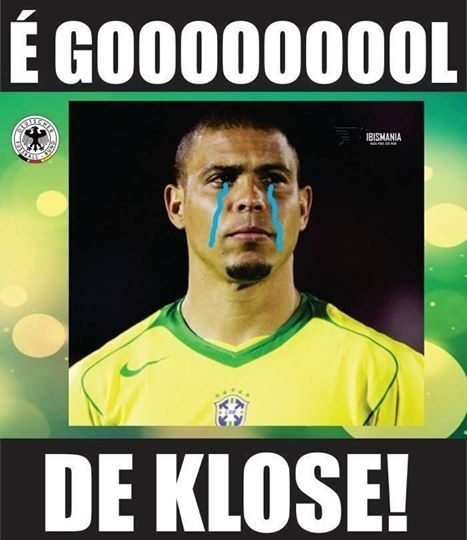 Gol de Klose derramoou lágrimas de Ronaldo