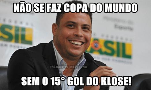 Internautas brincaram com as declarações de Ronaldo antes da Copa