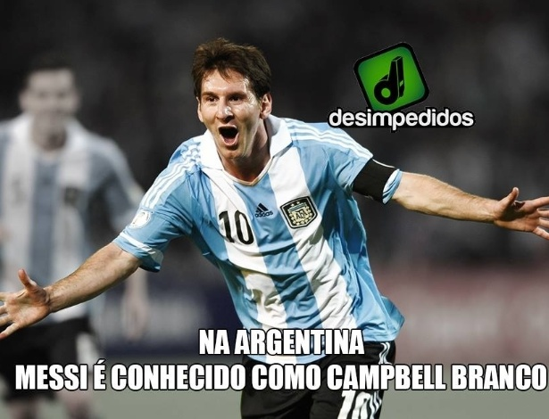 Messi: Campbell branco?