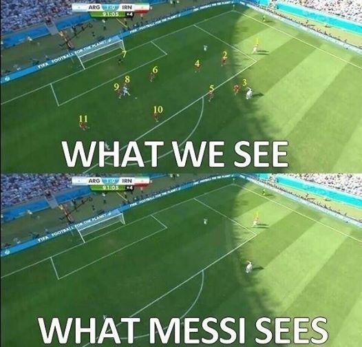 """""""O que a gente vê. O que Messi vê"""". Gol do camisa 10 ganhou elogios na rede"""