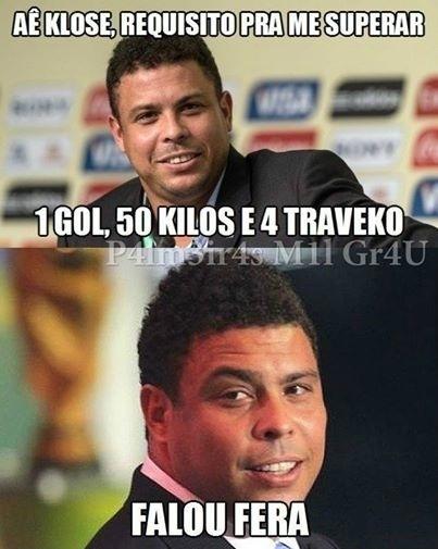 Palmeirenses tiraram sarro de Ronaldo