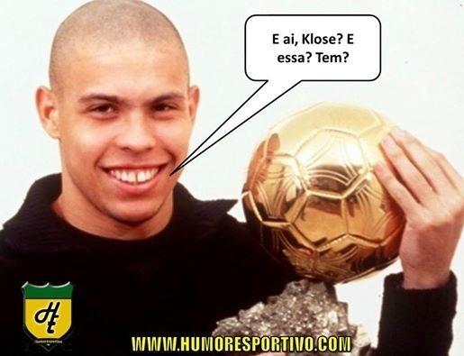 Klose e Ronaldo estão empatados apenas em gols nas Copas
