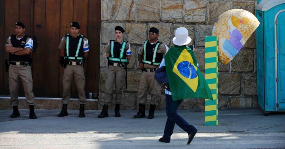 Segurança no Mineirão é reforçada para a partida entre Argentina e Irã