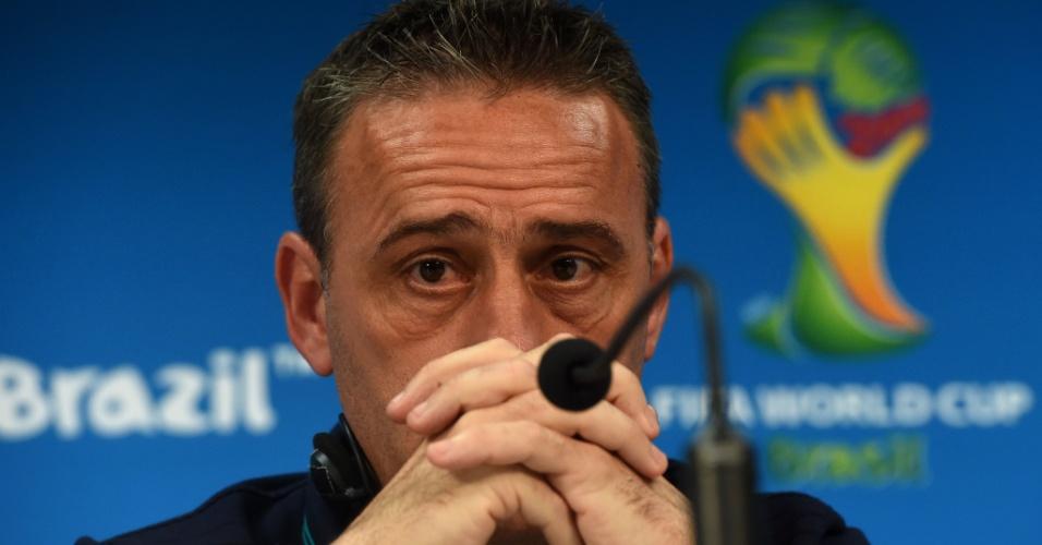 Técnico de Portugal Paulo Bento durante coletiva de imprensa em Manaus. Portugal enfrenta os Estados Unidos neste domingo