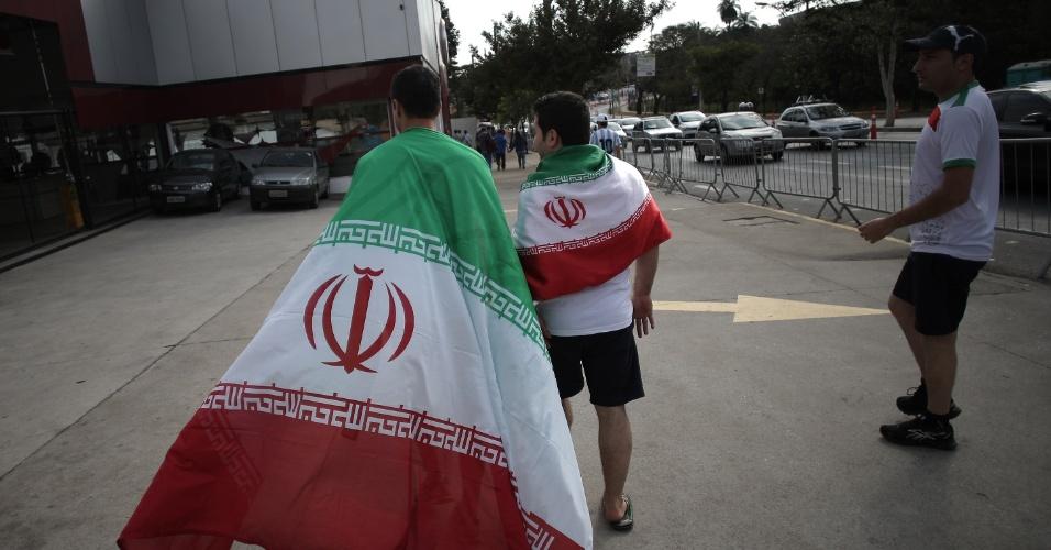 Torcedores iranianos também marcam presença no Mineirão para a partida contra a Argentina