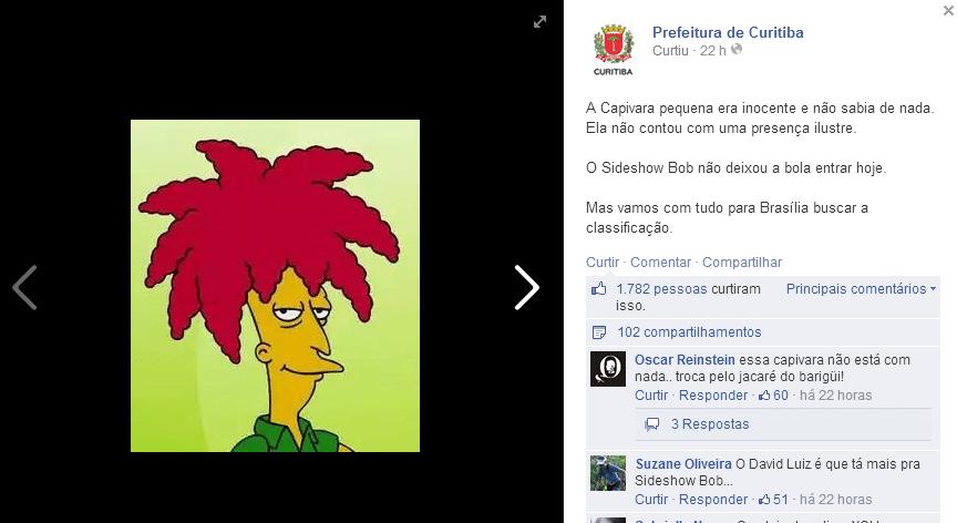 Zagueiro David Luiz, do Brasil, é comparado com personagem Sideshow Bob, dos Simpsons