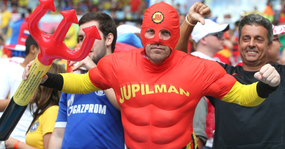 A geração belga está precisando apelar para um super-herói para melhorar seu futebol nesta Copa do Mundo