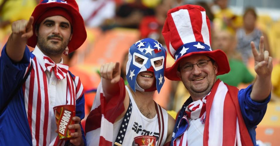 Americanos tomaram conta da Arena Amazônia e são maioria em Manaus