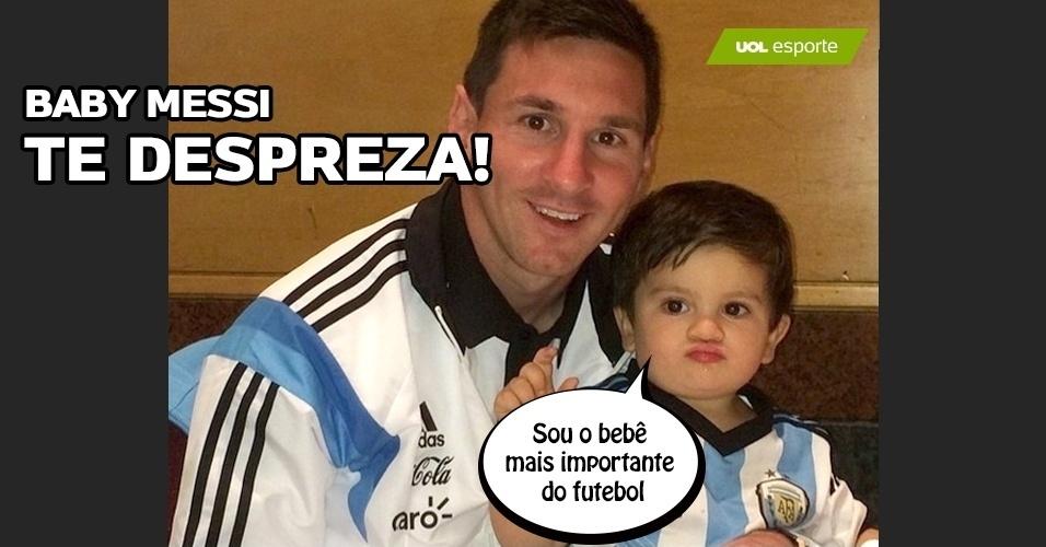 """Baby Messi te despreza: """"Sou bebê mais importante do futebol"""""""