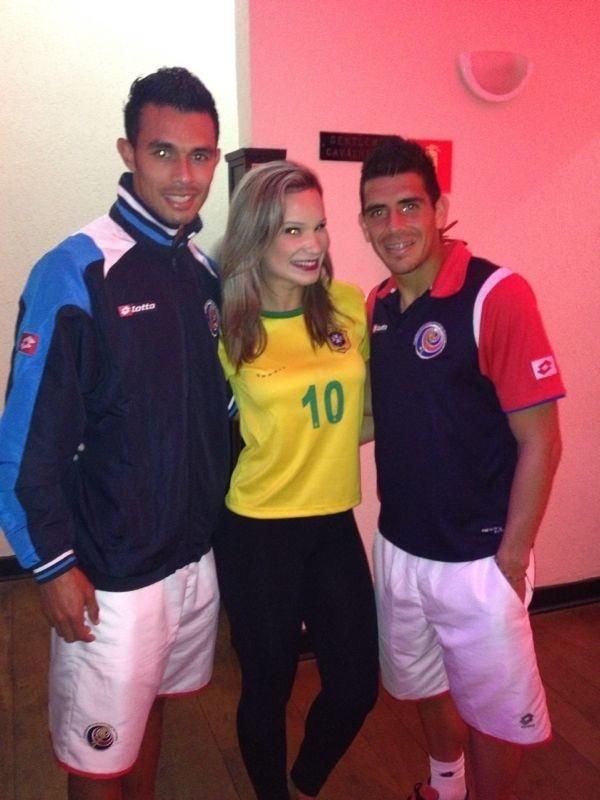 Bruna Carolina foi alvo das cantadas dos jogadores da Costa Rica após a vitória contra a Itália
