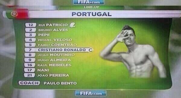 Cristiano Ronaldo faz pose até na escalação oficial da Fifa