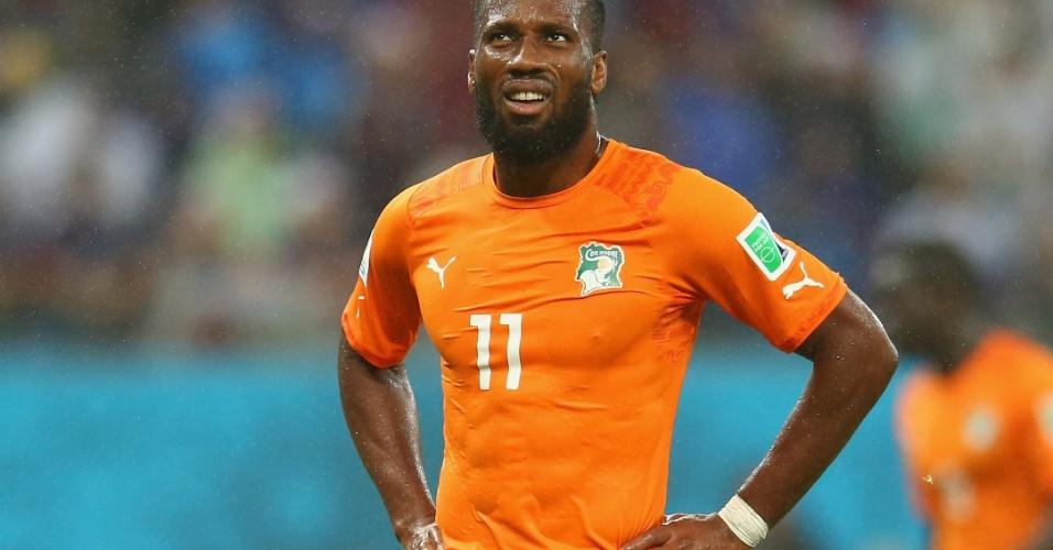 Didier Drogba, da Costa do Marfim, durante jogo contra Japão