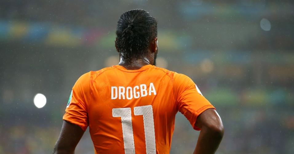 Didier Drogba no jogo da Costa do Marfim contra o Japão