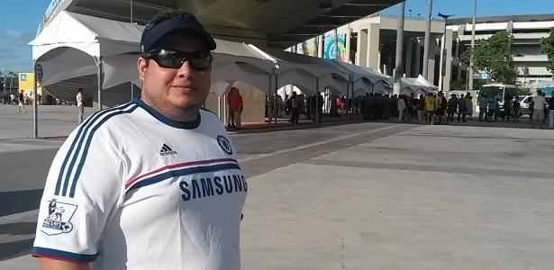 Dimas Cardenas, de 35 anos, decepcionou-se tanto que pensa em voltar para casa mais cedo
