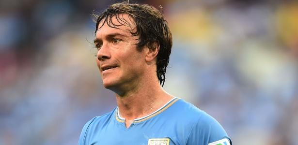 Lugano em ação pela seleção na Copa de 2014; uruguaio ainda não decidiu o futuro - Getty Images