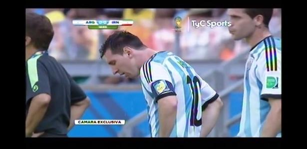 Messi se sente mal e quase vomita durante jogo da Argentina com o Irã