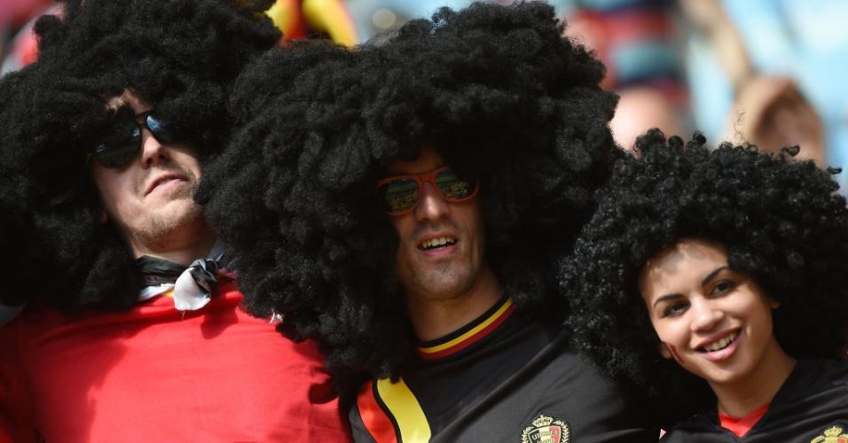 O gol marcado por Fellaini no primeiro jogo contra a Argélia encorajou o trio a aparecer no Maracanã com a mesma cabeleira ostentada pelo jogador da Bélgica