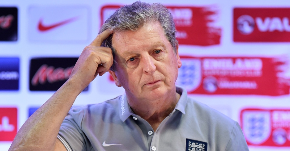 Roy Hodgson, técnico da já eliminada Inglaterra, concede entrevista coletiva na Urca, no Rio de Janeiro