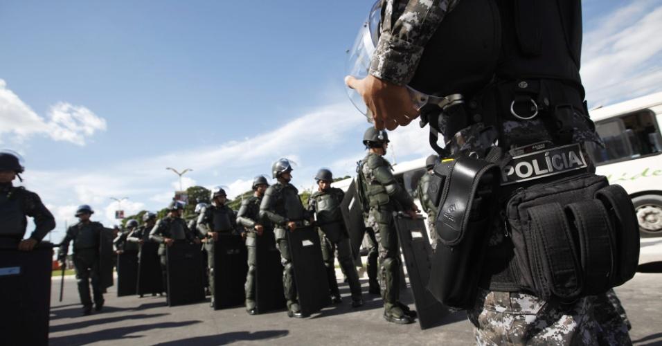 Segurança reforçada no entorno da Arena Amazônia para jogo entre Estados Unidos e Portugal