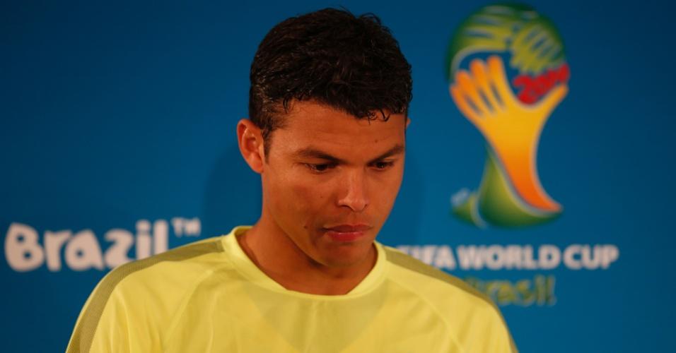 Thiago Silva foi o escolhido para conversar com os jornalistas neste domingo, em Brasília