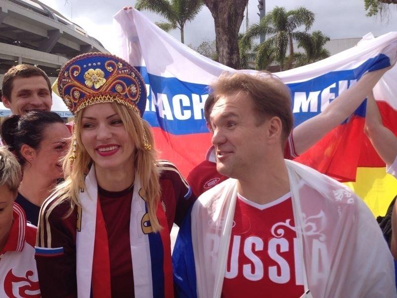 Torcedores da Rússia usaram a criatividade para o jogo contra a Bélgica