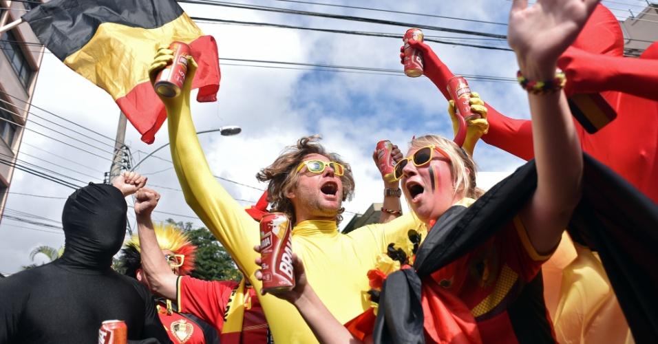 Torcida belga está animada para o confronto contra a Rússia no Maracanã