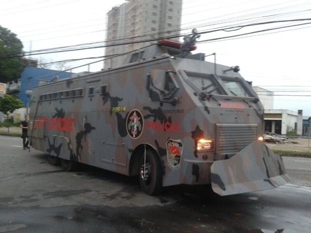 Veículo possui alta capacidade de intimidação, afirmam autoridades de segurança amazonenses