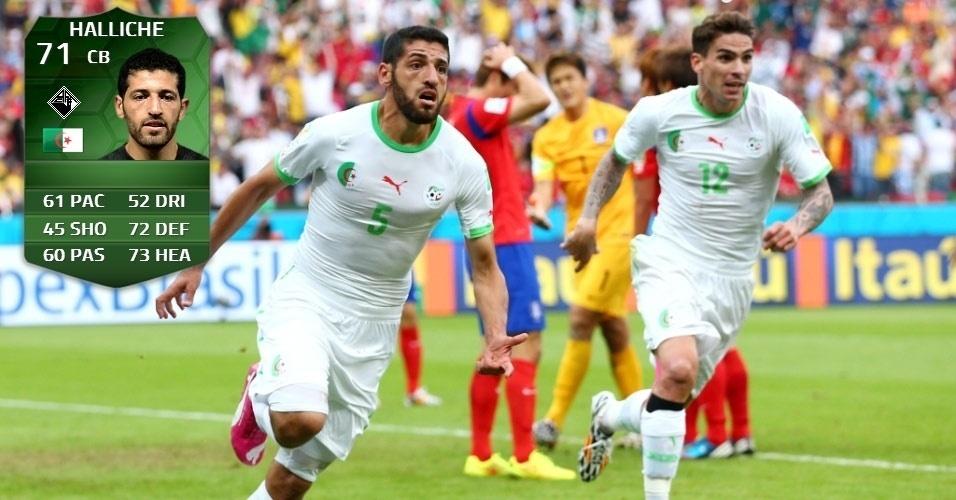 Argélia 4 x 2 Coreia do Sul: Rafik Halliche (67 para 71)