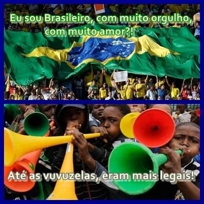 Até a torcida brasileira foi cornetada