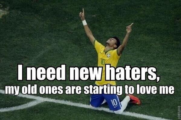 """Até a zoeira gringa está elogiando o Neymar: """"Preciso de novos odiadores, porque os que eu tinha começaram a me amar"""""""