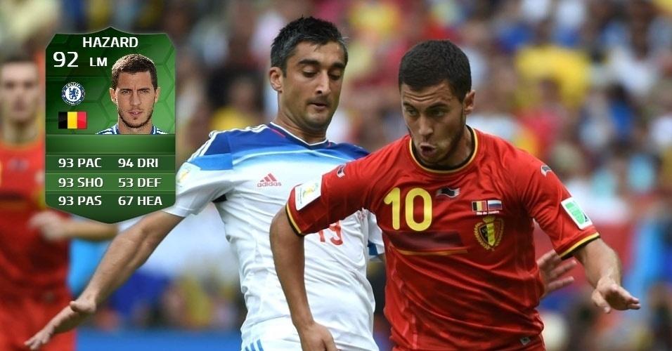 Bélgica 1 x 0 Rússia: Eden Hazard (86 para 92)