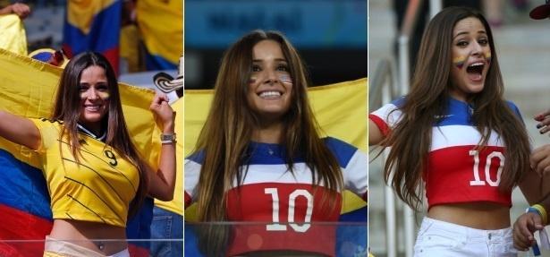 Colombiana-musa é presença frequente na Copa e mostra ser pé-quente