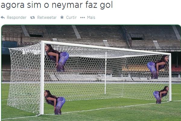 Com Bruna Marquezine no gol, fica mais fácil para o Neymar marcar