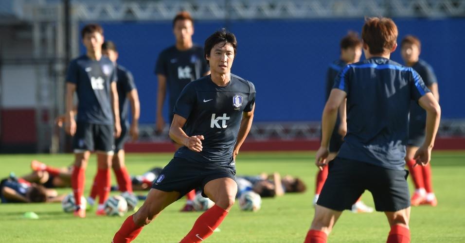 Coreia do Sul treina em Foz do Iguaçu. A seleção volta a campo na quinta-feira, em São Paulo, contra a Bélgica