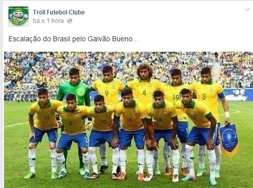Elogios de Galvão Bueno para Neymar ainda é piada na internet
