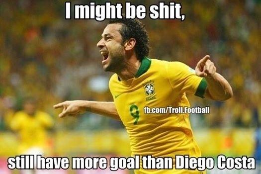 """""""Eu posso ser ruim. Mas tenho mais gols na Copa do que o Diego Costa"""""""