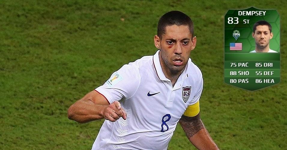 EUA 2 x 2 Portugal: Clint Dempsey (81 para 83)