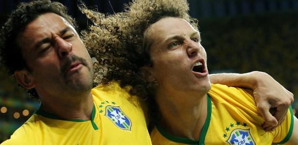 Nem todo mundo viu a comemoração de Fred e David Luiz na vitória da seleção brasileira sobre o time de Camarões na Copa do Mundo de 2014