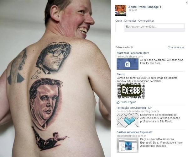 Holandês tatua Van Persie e Van Gaal nas costas