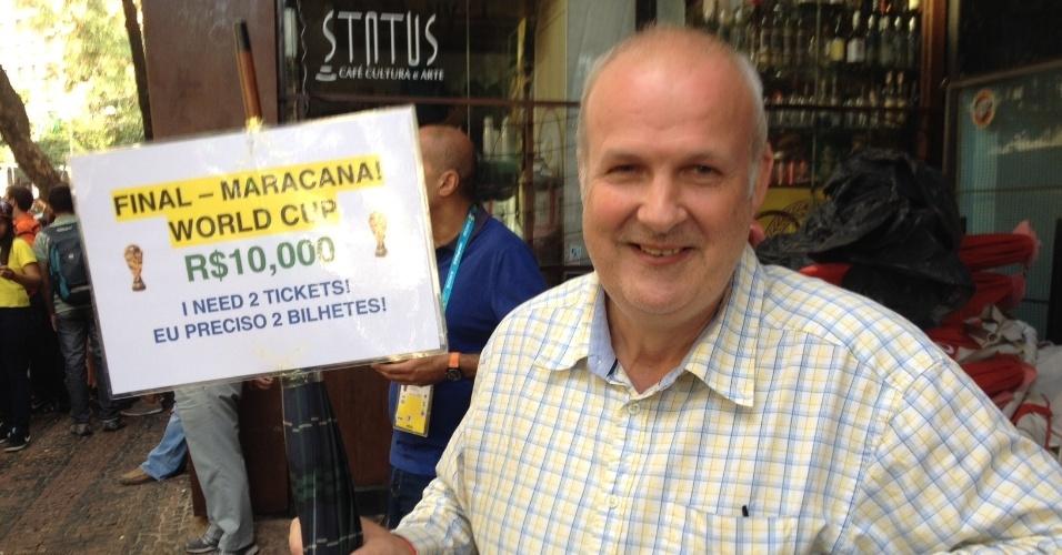 Inglês oferece em BH R$ 10 mil por ingressos da final da Copa