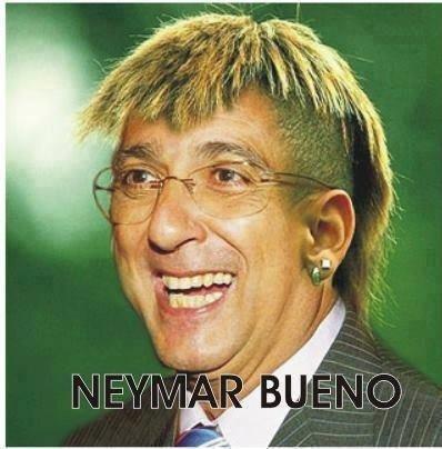 Internautas criaram um novo penteado para Galvão Bueno