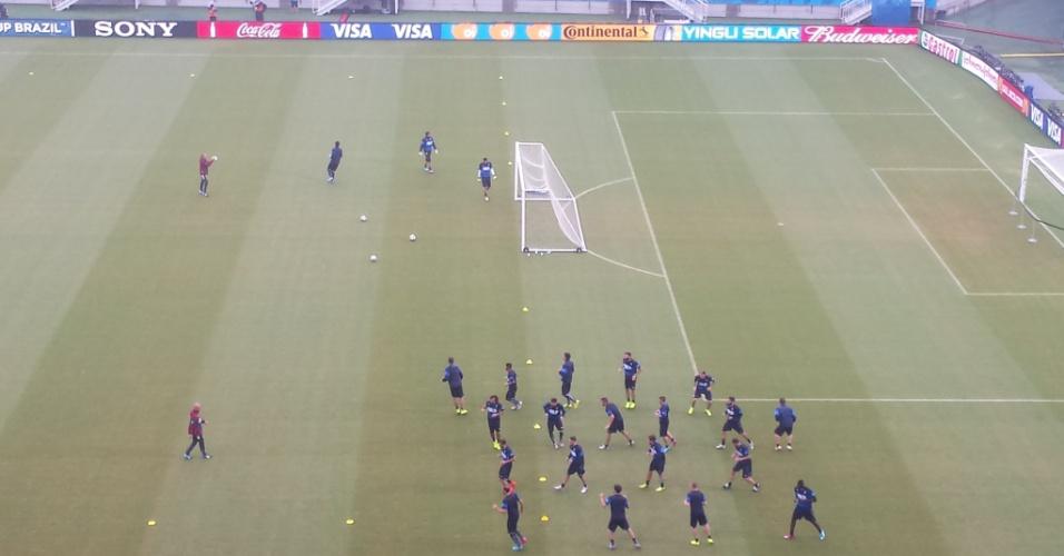 Italianos treinam na Arena das Dunas nesta segunda-feira